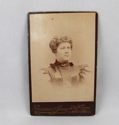 Antique Cabinet Photo Of A Lady By Rousseau & Joron Montreal Quebec