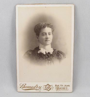 Antique Cabinet Photo Of A Lady  By Beaudry Quebec