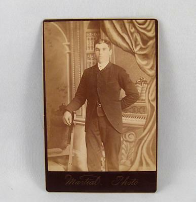 Antique Cabinet Photo Of A Young Man By Martial Photo Montreal Quebec