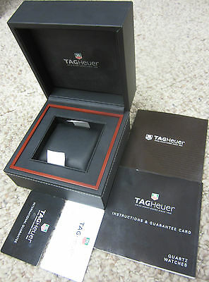 Tag Heuer Watch Guarantee Service Instructions Book & Card Diamond Cert Box Plus