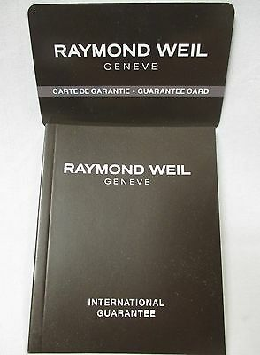 Raymond Weil 100 pg Multilingual Int'l Watch Warranty/Guarantee Booklet and Card