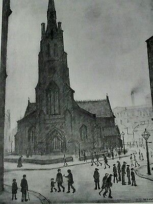 """L S Lowry signed limited edition print """"St Simon's Church"""""""