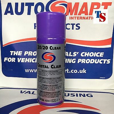 2 X Autosmart 20/20 Cristal CLEAR Glass Cleaner Spray (GENUINE PRODUCT)