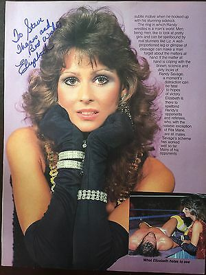 Miss Elizabeth (died 2003) Signed Magazine Page WWF WWE WCW Macho Man Savage