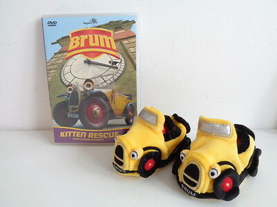 Brum - Pair Of Baby Slippers + Dvd Kitten Rescue