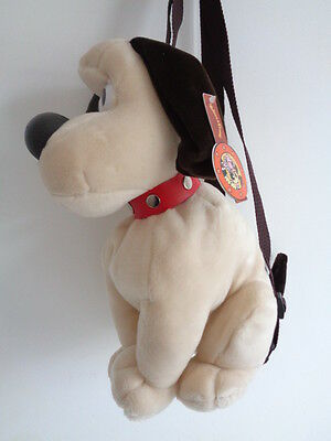 """WALLACE & GROMIT - 13"""" GROMIT BACK PACK - adjustable straps/zip-UNUSED WITH TAGS"""