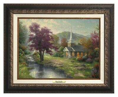 Streams of Living Water Thomas Kinkade 12x16 Canvas NEW Giclee Aged Bronze Frame