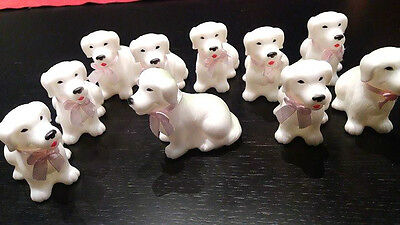 Lot of 10 Barbie Doll Pets Animals Puppies Dogs White