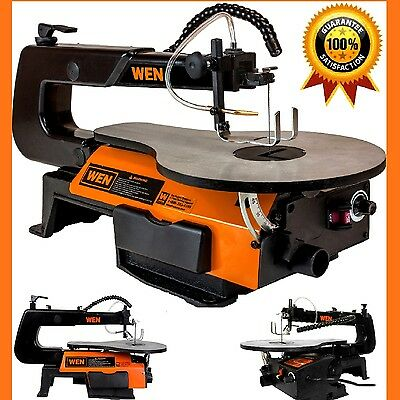 Scroll Saw Tabletop Professional Woodworking Saw Two Directions Cuts LED Worklig