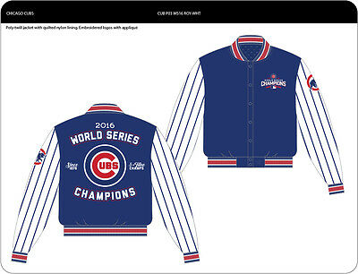 JH Design Chicago Cubs White Royal 2016 World Series Champions Jacket b71676298