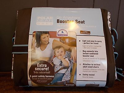 Polar Gear Baby Go Anywhere Booster Seat Blue/Espresso