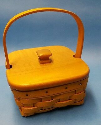 Longaberger Square Basket with Lid and Handle 2001