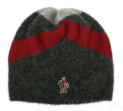 New Moncler Grenoble Alpaca Wool Logo Beanie Hat One Size Made In Italy