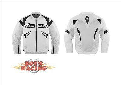 Icon Sanctuary Mens Sport Fit Jacket With Protective Armor White