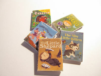 Dolls House Miniature  Books Set 6