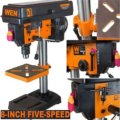 Stationary Drill Press Kit Beveling Work Table Bench Top Tool Metal Wood Plastic