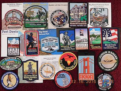 20+1 NATIONAL PARKS PATCHES - ALL NEW- MOST on CARDS - FROM  PERSONAL COLLECTION
