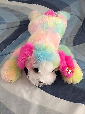 Ty Yodels New Plush Rainbow Dog Big 24 Inches And Super Soft NWT