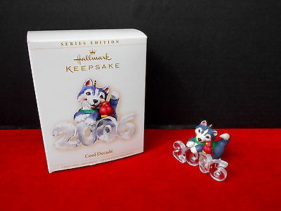 "Hallmark Keepsake Christmas Ornament ""cool Decade"" Qx2463  Nib 2006 #7"