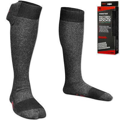 MEISTER BATTERY HEATED SOCKS - 8+ HOUR MODEL - Electric Feet Toes Warmers Hot