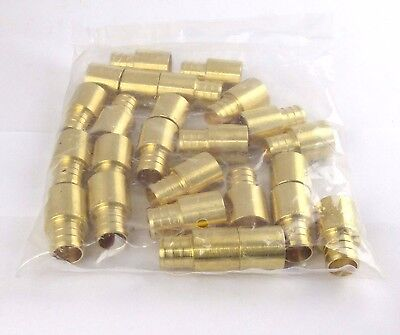 "(25) 3/4"" PEX x 3/4"" Male Sweat Adapter Brass Crimp Fitting"