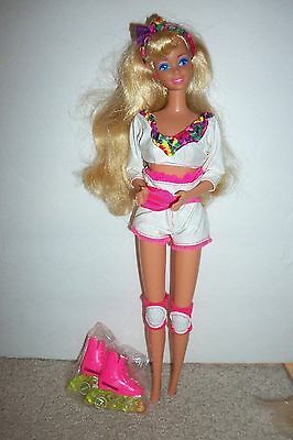 Roller Blade Barbie doll with recall stakes