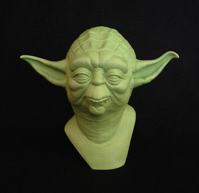 """Yoda Bust """"raw"""" Empire Strikes Back Star Wars Prop 1:1 Scale Life Size Replica"""