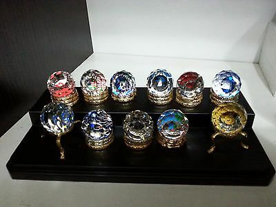 """11 pcs Swarovski Mini Paperweight 1"""" all with stands"""
