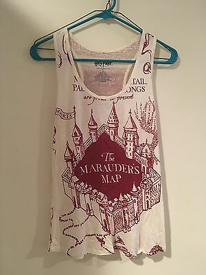 Maurader's Map Harry Potter Tank Top Women's Size S Small NWOT