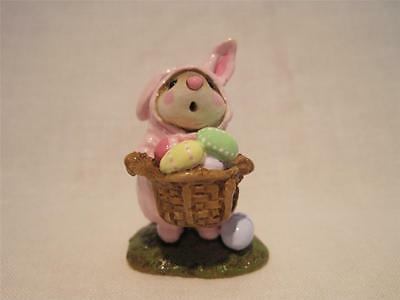 Wee Forest Folk Easter Bunny Mouse Pink - Retired - WFF Box