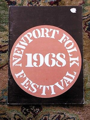 1968 NEWPORT FOLK FESTIVAL PROGRAM Janis Joplin, Tim Buckley, Joan Baez +++ Rare
