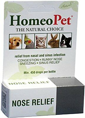 Homeopet Nose Relief Nasal Sinus & Infection Dog Bird Rabbit Cat. Free Ship Usa