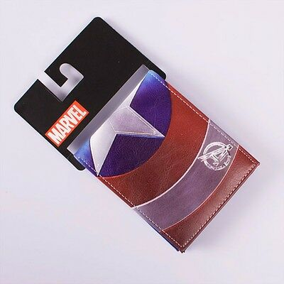 Marvel Comics Avengers Captain America Shield Leather Bi-Fold Mens Boys Wallet