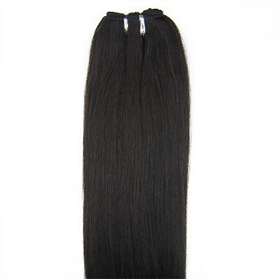 "18"" 100 grams 8A* Russian Remy Double Drawn Weft 100% Human Hair Extensions UK"