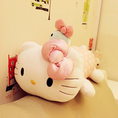 """Hello Kitty With Pet Lay Down Limited EDITION Soft Plush Doll Pillow 16"""" Pink"""