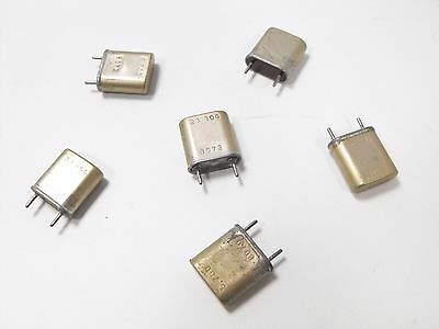 (6) Collins 75A-2 Ham Radio Receiver Complete Set of Stock Frequency Crystals