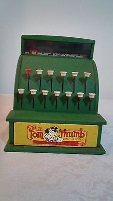 Vintage Tom Thumb Green Metal Toy Cash Register Western Stamping Co. USA