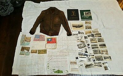 WWII USAAF FLIGHT BOMBER JACKET KELLEY'S KOBRAS 494th Bomb Group 864th Squadron