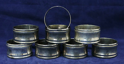 Set of 8 Vintage Silver Plate Napkin Ring Holders - Made in Hong Kong for Eatons