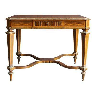 Antique Table / Desk / Writing Desk / French Regency Library Table