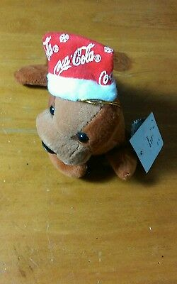 Coca Cola Christmas Holiday Bean Bag Plush Walrus Collectable Decor.New w/ Tag