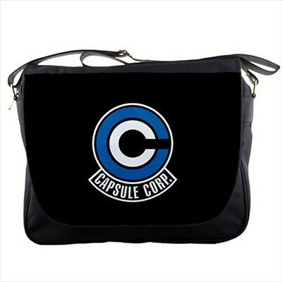 Capsule Corp Logo Dragon Ball Z messenger bag textbook shoulder sling flap bags