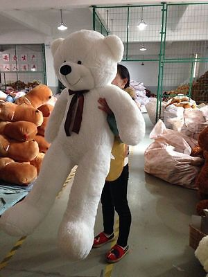 Giant Big Cute Plush Stuffed-Teddy Bear Soft 100% Cotton Toy.White-Details