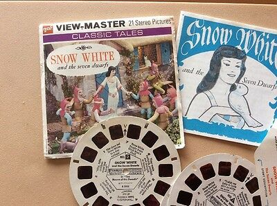 """View-Master 3 Reel Set """"SNOW WHITE AND THE SEVEN DWARFS"""""""