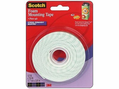 SCOTCH FOAM MOUNTING TAPE-PHOTO SAFE-12.7 mm x 3.81 m **NEW**