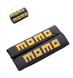 MOMO Carbon Fiber Seat Belt covers x 2
