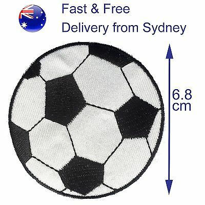 Soccer ball iron on patch - large football embroidery transfer iron-on patches