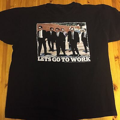 Vintage Reservoir Dogs 1991 Let's Go To Work T Shirt Sz Lg