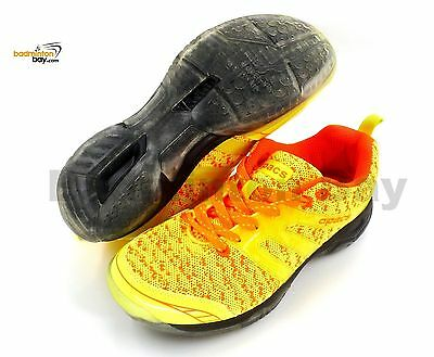 Apacs Cushion Power 072 Yellow Badminton Shoes With Transparent Outsole and