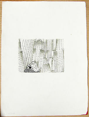"""Original pen drawing by Victoria Roberts - """" What sandwich is that? """""""